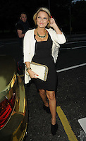 Sam Faiers.attended the Kensington Club new boutique nightclub launch party, The Kensington Club, High Street Kensington, London, England,.20th July 2012..full length white jacket back dress hand clutch bag .CAP/CAN.©Can Nguyen/Capital Pictures.