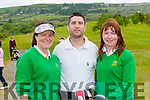 Liz Grey, Donie O'Keeffe and Mary O'Donnell Tralee GC team that played Ballybunion in Castleisland on Saturday