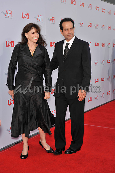12 June 2008 - Hollywood, California - Tony Shalhoub and Brooke Adams. 36th AFI Life Achievement Award tribute to Warren Beatty held at the Kodak Theatre. Photo Credit: Jaguar/AdMedia