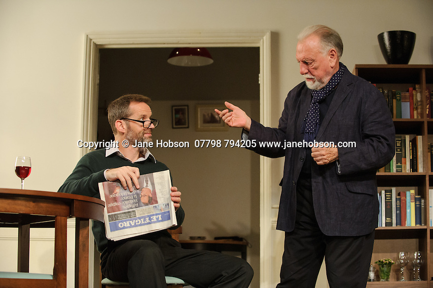 THE FATHER, written by Florian Zeller, in a new translation by Christopher Hampton, opens at Wyndham's Theatre. Directed by James Macdonald, with lighting design by Guy Hoare, and set and costume design by Miriam Buether. Picture shows: Jim Sturgeon (Man), Kenneth Cranham (Andre).
