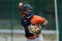 Houston Astros catcher Ruben Castro (17) during practice before an Instructional League game against the Atlanta Braves on September 22, 2014 at the ESPN Wide World of Sports Complex in Kissimmee, Florida.  (Mike Janes/Four Seam Images)