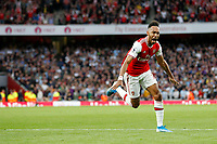 GOAL - Pierre-Emerick Aubameyang of Arsenal scores during the Premier League match between Arsenal and Aston Villa at the Emirates Stadium, London, England on 22 September 2019. Photo by Carlton Myrie / PRiME Media Images.