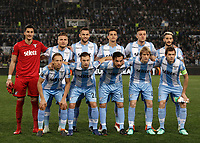 Europa League quarter-final 1st leg <br /> S.S. Lazio - FC Salzburg  Olympic Stadium Rome, April 5, 2018.<br /> S.S. Lazio players pose for the pre match photograph prior to theEuropa League match between Lazio and Salzburg at Rome's Olympic stadium, April 5, 2018.<br /> UPDATE IMAGES PRESS/Isabella Bonotto