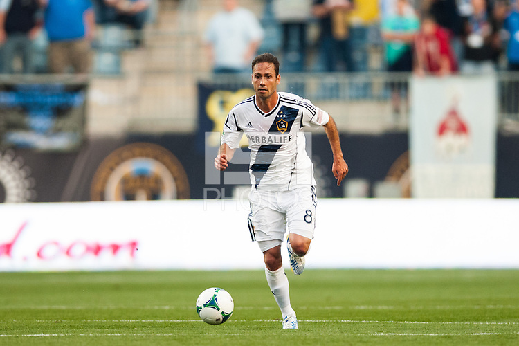 Marcelo Sarvas (8) of the Los Angeles Galaxy. The Los Angeles Galaxy defeated the Philadelphia Union 4-1 during a Major League Soccer (MLS) match at PPL Park in Chester, PA, on May 15, 2013.