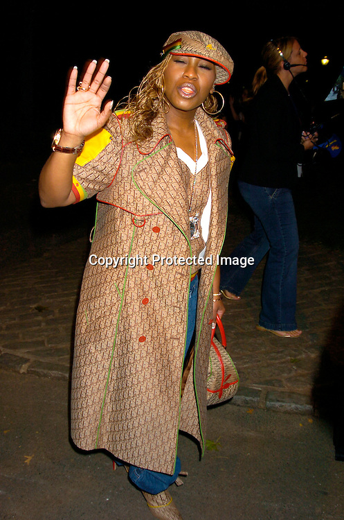 "Missy Elliott ..at the New York Premier of ""Shark Tale"" on September 27. 2004 at the Delacorte Theatre in Central Park. ..Photo by Robin Platzer, Twin Images"