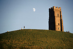 'WINE IN ENGLAND, SOMERSET', GLASTONBURY TOR & THE RUINS OF THE ST MICHAELS CHURCH, 1989