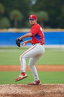 Philadelphia Phillies pitcher Skylar Hunter (51) during an instructional league game against the Toronto Blue Jays on September 28, 2015 at Englebert Complex in Dunedin, Florida.  (Mike Janes/Four Seam Images)