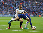 Chelsea's Marcos Alonso tussles with Tottenham's Kieran Trippier during the FA Cup Semi Final match at Wembley Stadium, London. Picture date: April 22nd, 2017. Pic credit should read: David Klein/Sportimage