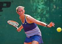 Netherlands, Amstelveen, August 22, 2015, Tennis,  National Veteran Championships, NVK, TV de Kegel,  Lady's 40+,  Caroline de Vries<br /> Photo: Tennisimages/Henk Koster