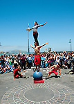 San Francisco: Street entertainers at Fisherman's Wharf.  Photo copyright Lee Foster. Photo # casanf104165
