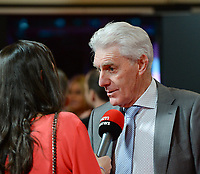 20180207 – BRUSSELS ,  BELGIUM : Hugo Broos pictured during the  64nd men edition of the Golden Shoe award ceremony and 2nd Women's edition, Wednesday 7 February 2018, in Brussels Heyzel Palace 12. The Golden Shoe (Gouden Schoen / Soulier d'Or) is an award for the best soccer player of the Belgian Jupiler Pro League championship during the year 2017. The female edition is the second in Belgium.  PHOTO DIRK VUYLSTEKE | Sportpix.be
