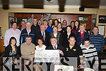 Boolteens fundraising volunteers present a cheque of EUR8003-80 to The Pallative Care unit at Kerry General Hospital in the Anvil Bar, Boolteens on Friday night seated l-r: Cora O'Connor, Donal Griffin (KGH Pallative Care Unit), Liz O'Connor, Michea?l O'Suilleabhain  (KGH Pallative Care Unit), Kenneth Clifford and Michea?l Ladden..