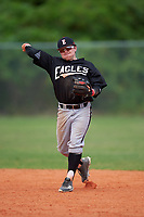 Edgewood Eagles Nik Visone (24) during the second game of a doubleheader against the Plymouth State Panthers on April 17, 2016 at Lee County Player Development Complex in Fort Myers, Florida.  Plymouth State defeated Edgewood 16-3.  (Mike Janes/Four Seam Images)