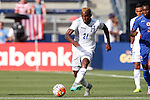13 July 2015: Brayan Beckeles (HON). The Haiti Men's National Team played the Honduras Men's National Team at Sporting Park in Kansas City, Kansas in a 2015 CONCACAF Gold Cup Group A match. Haiti won the game 1-0.