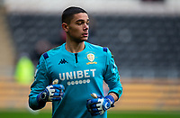 Leeds United's Elia Caprile warms up<br /> <br /> Photographer Alex Dodd/CameraSport<br /> <br /> The EFL Sky Bet Championship - Hull City v Leeds United - Saturday 29th February 2020 - KCOM Stadium - Hull<br /> <br /> World Copyright © 2020 CameraSport. All rights reserved. 43 Linden Ave. Countesthorpe. Leicester. England. LE8 5PG - Tel: +44 (0) 116 277 4147 - admin@camerasport.com - www.camerasport.com