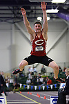 "11 MAR 2011: Ethan Miller of Central College long jumps during the the Division III Men's and Women's Indoor Track and Field Championships held at the Capital Center Fieldhouse on the Capital University campus in Columbus, OH.  Miller finished second in the event with a jump of 7.23 meters (23'8.75""). Jay LaPrete/NCAA Photos"