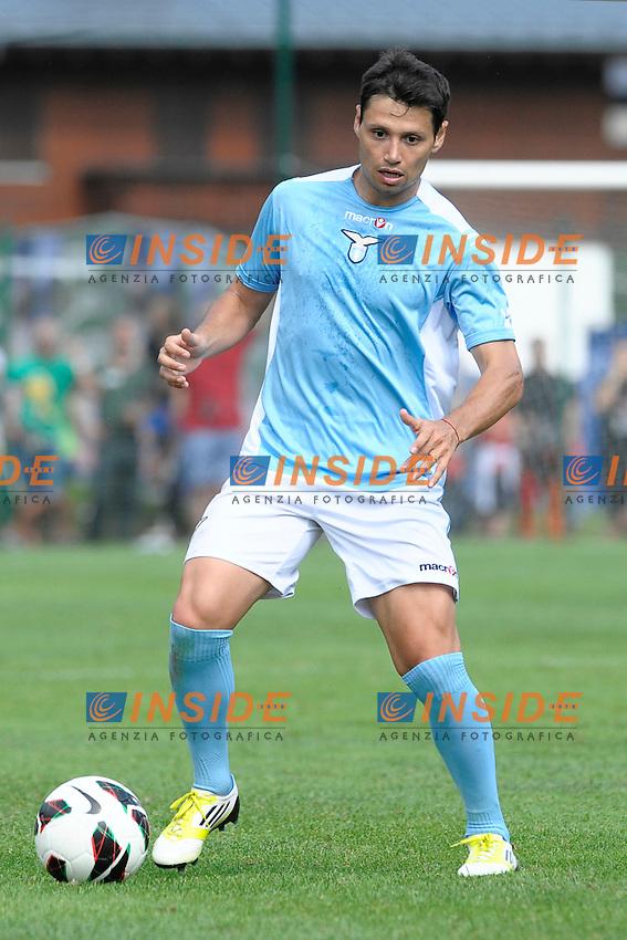 Mauro Zarate Lazio.Auronzo di Cadore 26/7/2012.Football Calcio 2012 / 2013 .Amichevole Friendly Match.SS Lazio Vs FC Torino.Foto Insidefoto.