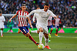 Real Madrid´s Cristiano Ronaldo and Atletico de Madrid´s Filipe Luis during 2015/16 La Liga match between Real Madrid and Atletico de Madrid at Santiago Bernabeu stadium in Madrid, Spain. February 27, 2016. (ALTERPHOTOS/Victor Blanco)