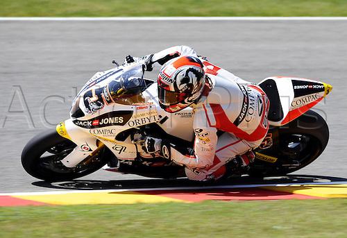 06 06 2010 Joan Olive ESP Promo Harris. Moto2 class, 600cc spec Honda eninges in prototype chassis. Gran Premio d'Italia TIM, Mugello circuit, Italy.