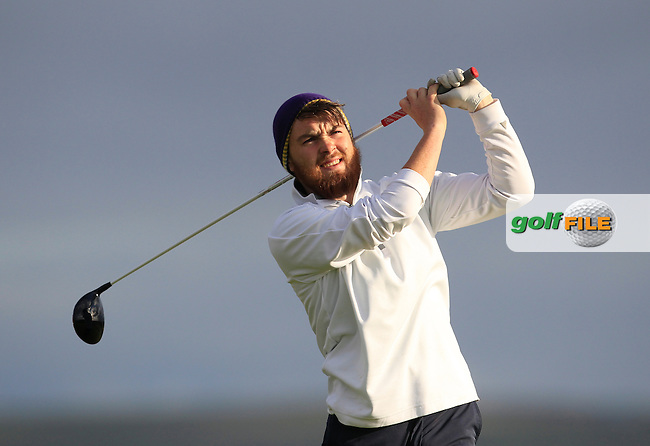 Jamie O'Shea (Shannon) on the 2nd tee during Round 2 of the South of Ireland Amateur Open Championship at LaHinch Golf Club on Thursday 23rd July 2015.<br /> Picture:  Golffile | Thos Caffrey