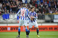 VOETBAL: HEERENVEEN: Abe Lenstra Stadion, SC Heerenveen - Feyenoord, 06-05-2012, Bas Dost (#12), Daryl Janmaat (#19), Eindstand 2-3, ©foto Martin de Jong