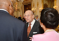 10 June 2016 - London, England - Prince Philip Duke of Edinburgh meets guests during a reception ahead of the Governor General's lunch at Buckingham Palace in London. Photo Credit: ALPR/AdMedia