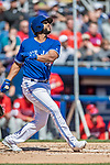 6 March 2019: Toronto Blue Jays infielder Richard Urena at bat during a Spring Training game against the Philadelphia Phillies at Dunedin Stadium in Dunedin, Florida. The Blue Jays defeated the Phillies 9-7 in Grapefruit League play. Mandatory Credit: Ed Wolfstein Photo *** RAW (NEF) Image File Available ***