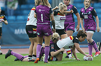 Picture by Paul Currie/SWpix.com - 07/10/2017 - Rugby League - Women's Super League Grand Final - Bradford Bulls v Featherstone Rovers - Regional Arena, Manchester, England - Kirsty Moroney of Bradford Bulls scores the 1st try