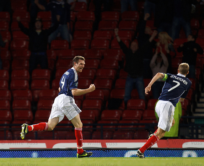 Stephen McManus celebrates heading in the winner after seven minutes of injury time