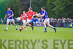 Maurice Foley Laune Rangers v Niall O'Mahony East Kerry in the first round of the Garveys Supervalu Kerry county football championship at Beaufort on Saturday evening.