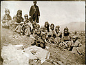 Ottoman Empire 1905 Kurdish women at the feast of the monastry  St. Garabed near Mush, 4th_17th century fully destroyed by the Turks in 1915   Empire Ottoman 1905<br />