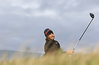 Tommy Fleetwood (ENG) on the 17th tee during round 4 of the Alfred Dunhill Links Championship at Old Course St. Andrew's, Fife, Scotland. 07/10/2018.<br /> Picture Thos Caffrey / Golffile.ie<br /> <br /> All photo usage must carry mandatory copyright credit (&copy; Golffile | Thos Caffrey)