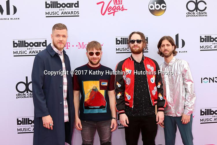 LAS VEGAS - MAY 21:  Dan Reynolds, Ben McKee, Daniel Platzman, Wayne Sermon at the 2017 Billboard Music Awards - Arrivals at the T-Mobile Arena on May 21, 2017 in Las Vegas, NV
