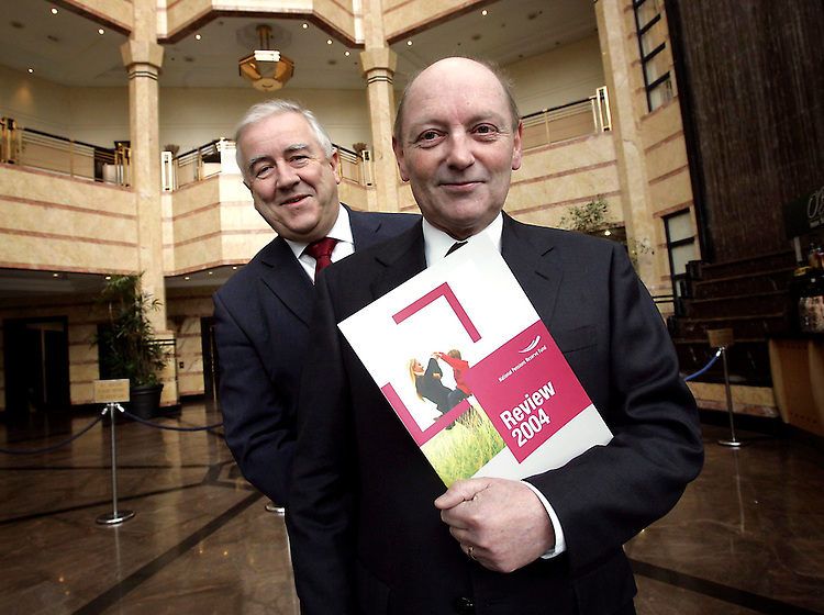 Mr. Donal Geaney, Chairman, National Pensions Reserve Fund Commission (front) and Dr. Michael J. Somers, CEO National Treasury Management Agency are pictured at the publication of the NPRF Annual Review 2004. Pic Robbie Reynolds
