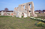 Remains of Greyfriars Priory, Dunwich, Suffolk. Most of this once important town has been lost to coastal erosion.