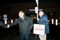 Jim Gilmore - NH Campaign - Outside polling station - Bedford, NH - 9 Feb 2016