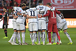 03.11.2018, BayArena, Leverkusen, GER, 1. FBL,  Bayer 04 Leverkusen vs. TSV 1899 Hoffenheim,<br />  <br /> DFL regulations prohibit any use of photographs as image sequences and/or quasi-video<br /> <br /> im Bild / picture shows: <br /> Mannschaftskreis Hoffenheim<br /> Foto &copy; nordphoto / Meuter