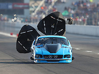 Sep 24, 2016; Madison, IL, USA; NHRA pro mod driver Michael Biehle II during qualifying for the Midwest Nationals at Gateway Motorsports Park. Mandatory Credit: Mark J. Rebilas-USA TODAY Sports