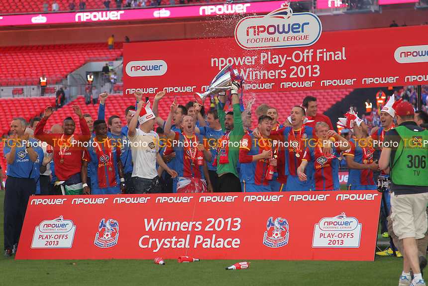 Crystal Palace Celebrate - Crystal Palace vs Watford - NPower Championship Play-Off Final at Wembley Stadium, London - 27/05/13 - MANDATORY CREDIT: Simon Roe/TGSPHOTO - Self billing applies where appropriate - 0845 094 6026 - contact@tgsphoto.co.uk - NO UNPAID USE