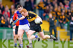 Johnny Buckley of Dr Crokes and Cillian Duggan of Cratloe in the AIB Munster Senior Football Final played last Sunday in The Gaelic Grounds, Limerick.