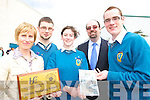 HEALTH AWARD: Mercy Mounthawk School who were presented with a Health Promotion School Award on Tuesday l-r: Shelly O'Shea (HSE), Cian Lynch, Le?an O'Connor, John O'Rourke (Deputy Principal) and Padraig Rice.   Copyright Kerry's Eye 2008