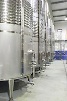 stainless steel tanks Bodega Agribergidum, DO Bierzo, Pieros-Cacabelos spain castile and leon