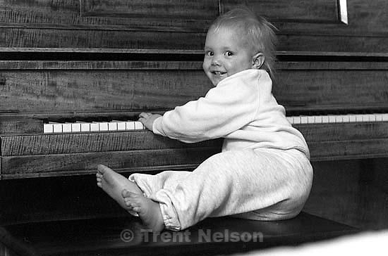 Rebecca Clark on the piano.<br />