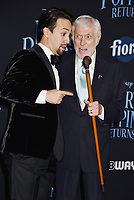 LOS ANGELES, CA - NOVEMBER 29: Lin-Manuel Miranda (L) and Dick Van Dyke attend the Premiere Of Disney's 'Mary Poppins Returns' at El Capitan Theatre on November 29, 2018 in Los Angeles, California.<br /> CAP/ROT/TM<br /> &copy;TM/ROT/Capital Pictures