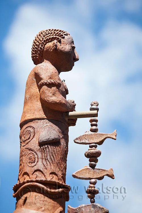 Totem pole at the Gabi Titui Cultural Centre.  Thursday Island, Torres Strait Islands, Queensland, Australia