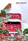 Barry, CHRISTMAS LANDSCAPES, WEIHNACHTEN WINTERLANDSCHAFTEN, NAVIDAD PAISAJES DE INVIERNO, paintings+++++,GBBCCDA1056,#xl# ,red robin