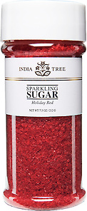 10202 Holiday Red Sparkling Sugar, Tall Jar 7.5 oz
