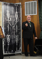 NWA Democrat-Gazette/ANDY SHUPE<br /> Donald Nohs, director general of the Confraternity of the Passion International, speaks Saturday, Jan. 16, 2016, at St. Joseph Catholic Church in Tontitown.