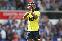 Blackburn Rovers' Kasey Palmer applauds the crowd at the end of todays match<br /> <br /> Photographer Rachel Holborn/CameraSport<br /> <br /> The EFL Sky Bet Championship - Ipswich Town v Blackburn Rovers - Saturday 4th August 2018 - Portman Road - Ipswich<br /> <br /> World Copyright &copy; 2018 CameraSport. All rights reserved. 43 Linden Ave. Countesthorpe. Leicester. England. LE8 5PG - Tel: +44 (0) 116 277 4147 - admin@camerasport.com - www.camerasport.com
