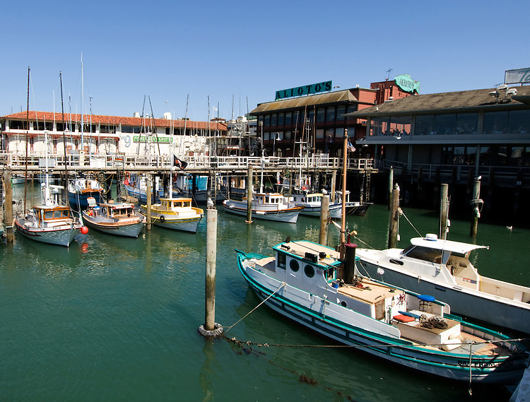 California, San Francisco: Fishing boats at Fisherman's Wharf..Photo #: 12-casanf78300.Photo © Lee Foster 2008